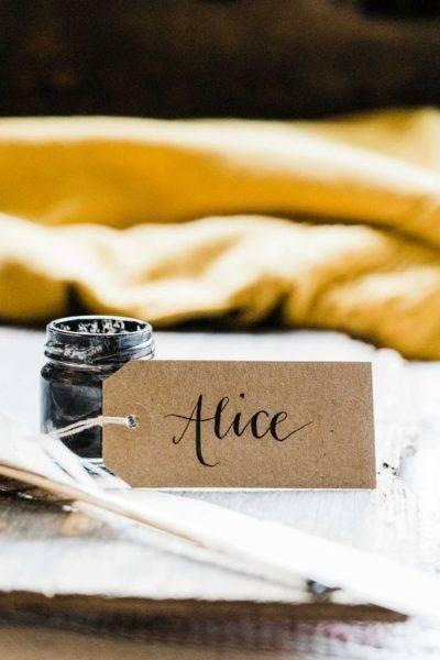 name tag calligraphy